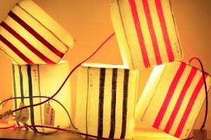 lampes rayées pcm création