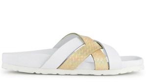 sandale semelle blanche dorée minelli