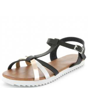 sandales semelle blanche crantée métal kiabi
