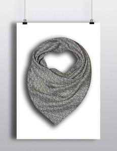 headwrap gaphique noir et blanc hello wooly