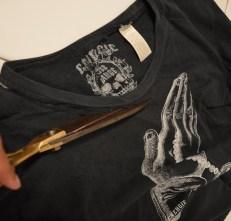 recycler un tshirt en débardeur customisation top à franges