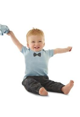 tee shirt bébé noeud papillon bio verlaine et rimbaud
