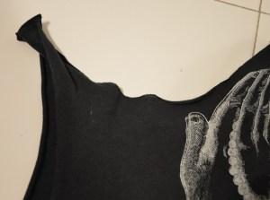 tutoriel diy recycler tshirt débardeur à franges tendance