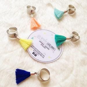 bagues pompon les petites garçonnes création bijoux