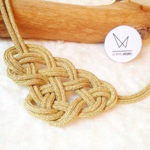 collier noeud marin doré les petites garçonnes création bijoux