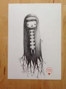 illustration noir et blanc madammag illustratrice
