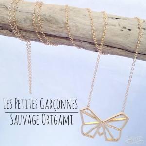 sautoir origami papillon les petites garçonnes création bijoux