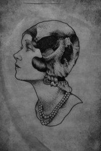 illustration-portrait-rétro-skull-crane-gravure-jeanjean