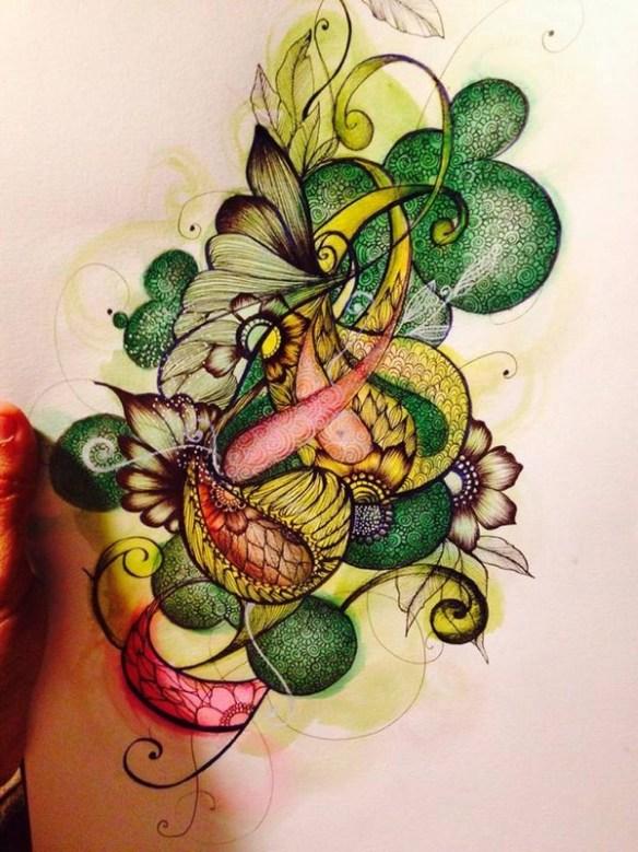 dessin-floyajam-artiste-toulon-mehndi-couleurs