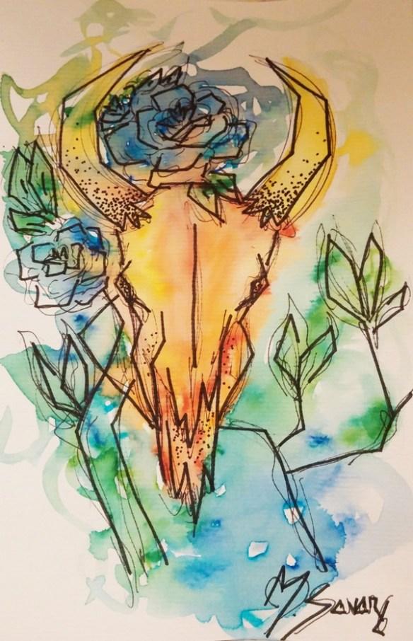 crane-buffle-tableau-magalisavary-artiste