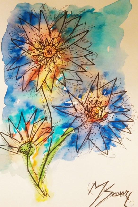 tableau-fleurs-aquarelles-couleurs-magalisavary-artiste