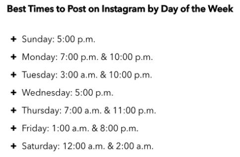 thời gian đăng ảnh hiệu quả trên instagram