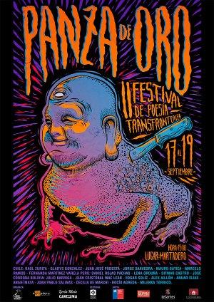 Afiche oficial del II Festival de Poesía Transfronteriza - Panza de Oro 2015