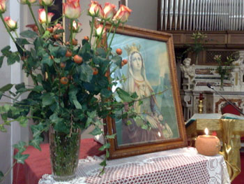 l'immagine di Sant'Elisabetta venerata presso il nsotro convento