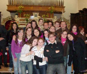 la GIoventù Francescana e l'Assistente Padre Rosario