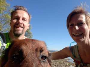 Lotta, Stephan und ich an der Müritz
