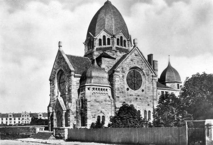 Die Synagoge von 1907 in all ihrer Pracht
