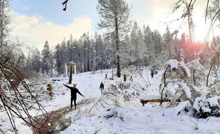 Laufen im Schnee - so schön!