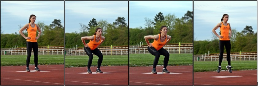 Bildliche Anleitung des Counter-Movement-Jumps