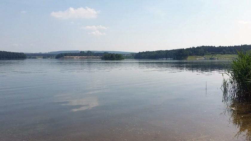 Zwischenstopp auf dem Weg in den Bayerwald: der Steinberger See