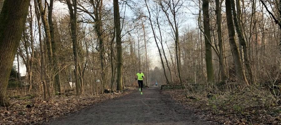 Zieleinlauf beim Spiridon Silvesterlauf im Frankfurter Stadtwald