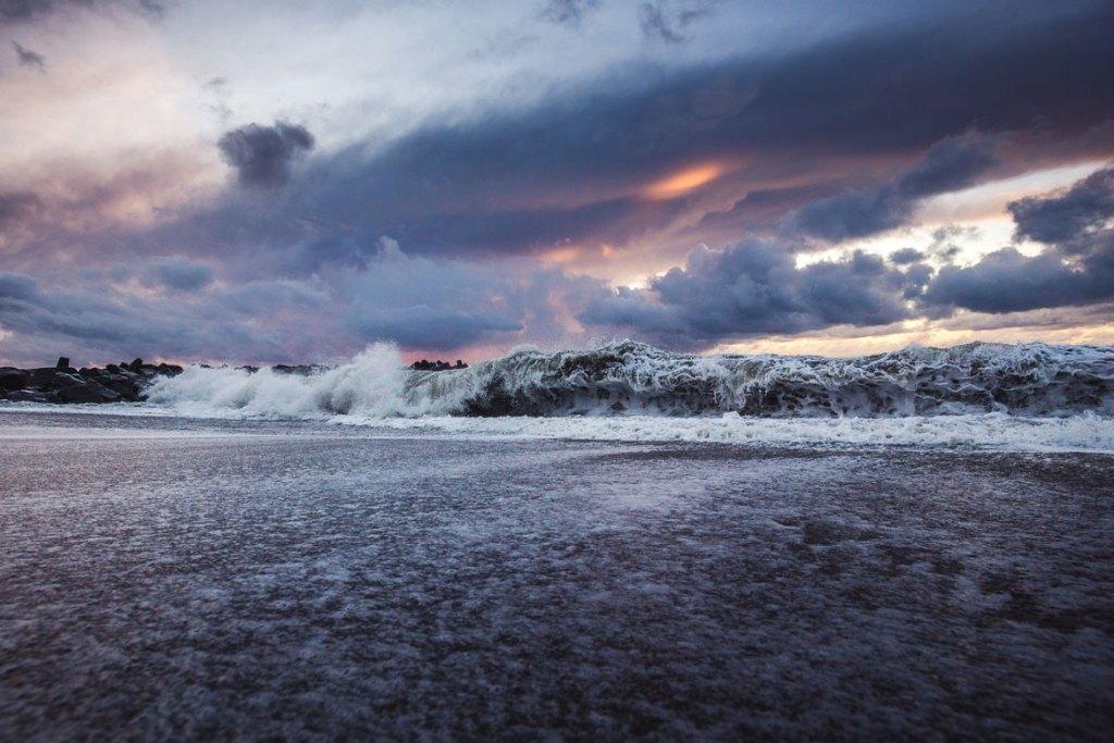 Bølger ved Vesterhavet