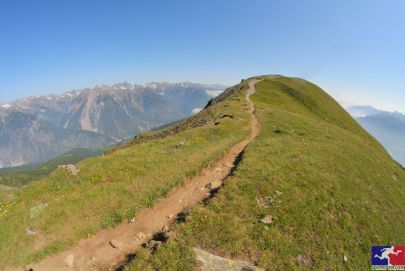 Eines der schönsten Streckenabschnitte der 4 Trails: der Gratweg zur Glanderspitze