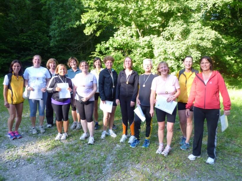 Die erfolgreichen Teilnehmerinnen des Einsteigerkurses 2013