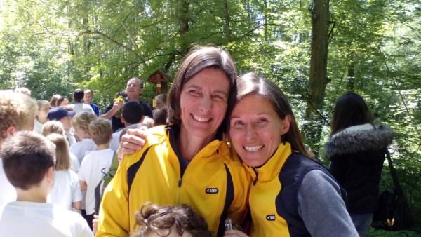 Unsere Helferinnen vom LT Beate und Marina waren ebenfalls gut gelaunt!