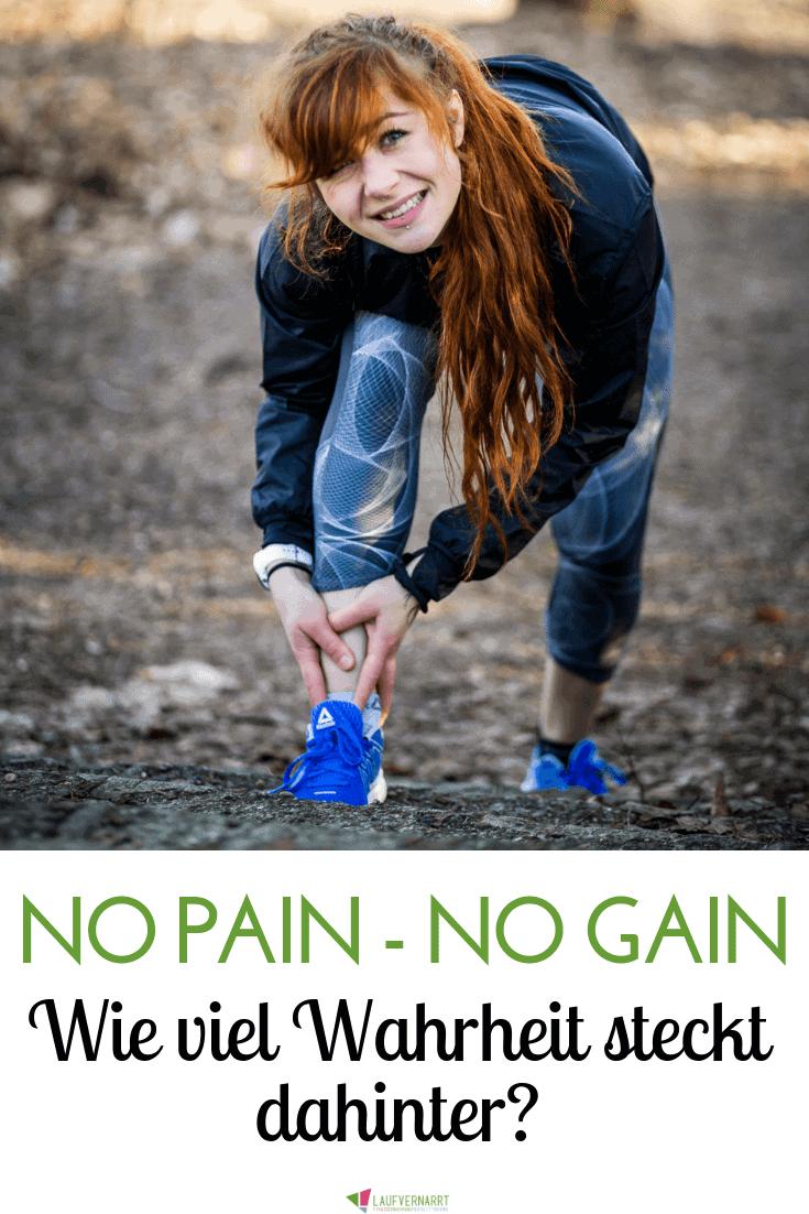 """Muss Training wehtun? In diesem Blogartikel beleuchte ich den Mythos """"no pain, no gain"""" kritisch und gebe dir Richtlinien mit, welcher Schmerz dich weiterbringt."""