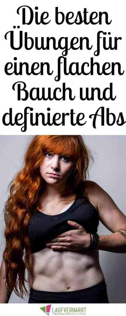 Hier findest du die besten Übungen für einen flachen Bauch und definierte Bauchmuskeln.