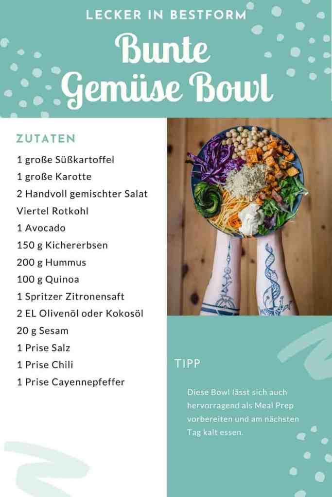 Diese bunte Gemüse Bowl ist das perfekte Mittag- oder Abendessen und eignet sich hervorragend als Meal Prep.