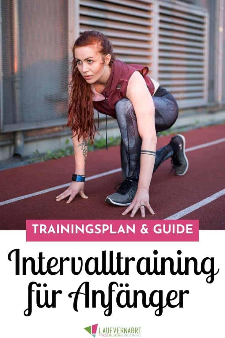 Der Intervalltraining Trainingsplan Laufen für Anfänger! Hier erhältst du alle Tipps, Informationen und Tricks für den Einstieg ins Intervalltraining.