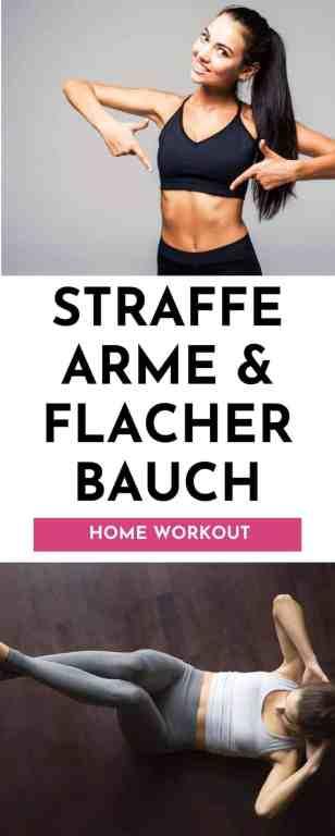Toned Arms & Abs - straffe Arme und flacher Bauch Workout. Am 13. Tag der 30 Tage Fitness Challenge erwartet dich ein intensives Workout für Oberkörper und Rumpf. Die besten FItnessübungen und das ganze Workoutvideo bekommst du hier.