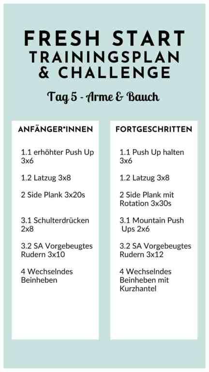 #Training für #Frauen - straffe #Arme und #flacher #Bauch mit dieser #Workoutroutine für #zuhause. #Homeworkout