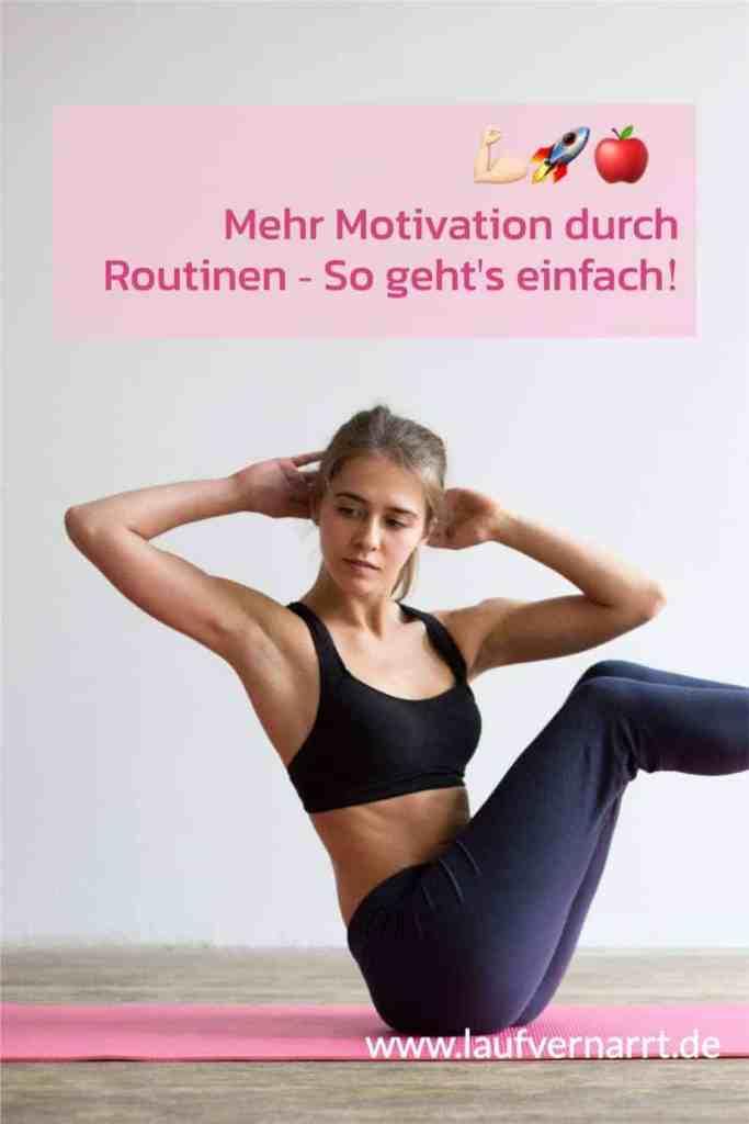 Mehr #Motivation durch #Routinen - so geht's einfach mit den #Gewohnheiten für dein #Wohlbefinden!