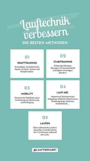 #Lauftechnik #verbessern - die besten #Methoden für #Läufer und ihren #Laufstil: #Krafttraining, #Stabi, #Mobility und #Laufabc