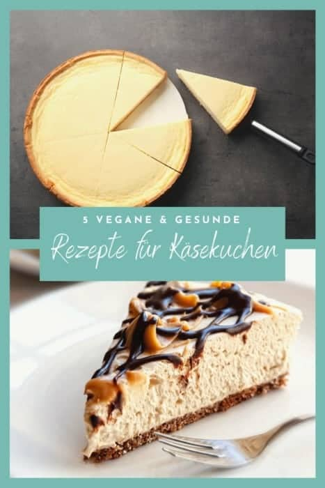Lust auf #Käsekuchen? Hier kommen fünf geniale und super #simple Rezepte für #Cheesecake in #vegan, #glutenfrei und #gesund. Diese #Rezepte sind garantiert #zuckerfrei und unglaublich lecker!