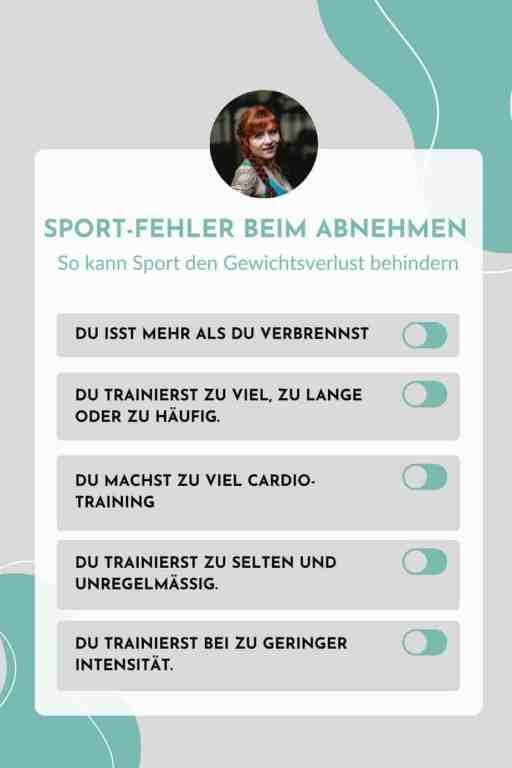 Das sind die häufigsten Fehler beim #Sport zum #Abnehmen. Diese Probleme beim #Training behindern den #Gewichtsverlust.