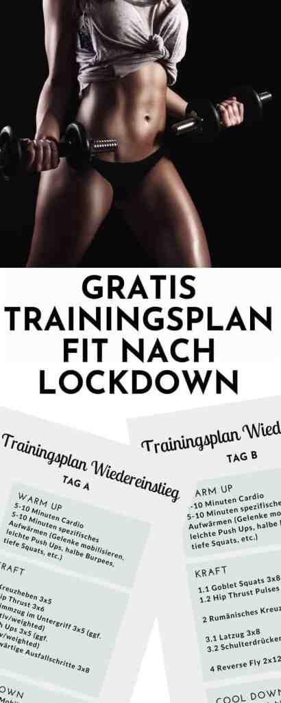 Gratis Trainingsplan - Fit nach Lockdown! Alles über das richtige Training nach langer Pause. #Krafttraining