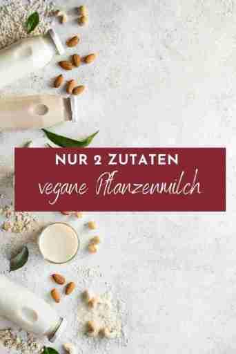 Pflanzenmilch selbst machen - hier kommt ein simples Grundrezept für veganen Milchersatz aus nur 2 Zutaten. Super schnell zubereitet, gesund und lecker - optional glutenfrei und nussfrei.
