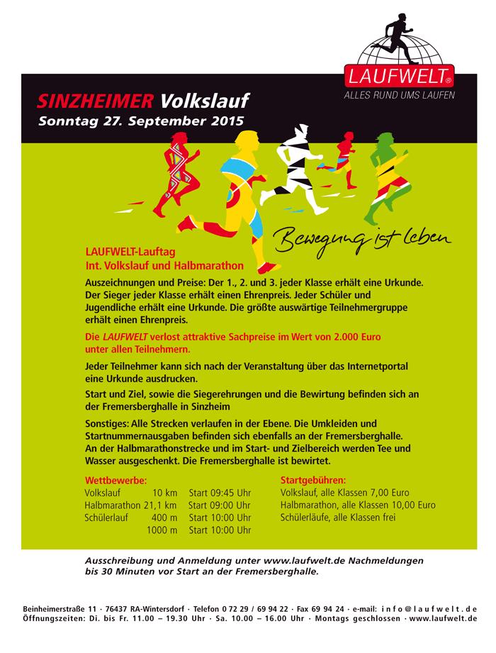 Laufwelt Sinzheimer Volkslauf 27.Sept. 2015 - Laufwelt ...