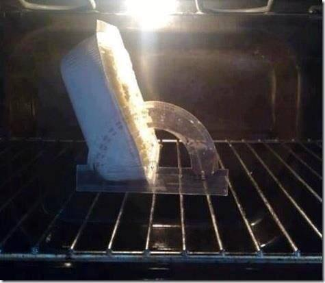 Put the food in the oven at 120 degree