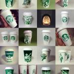 Amazing Starbucks cup art by Soo Min Kim