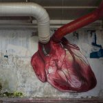 Clever graffiti – heart