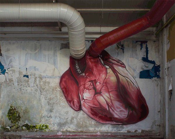 Clever graffiti - Heart