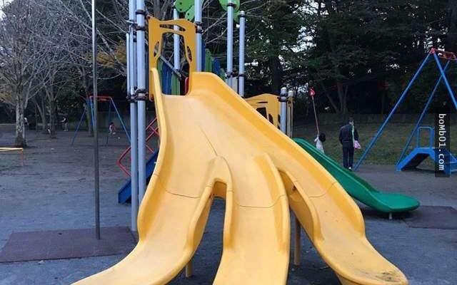 Never split your legs when sliding down this slide