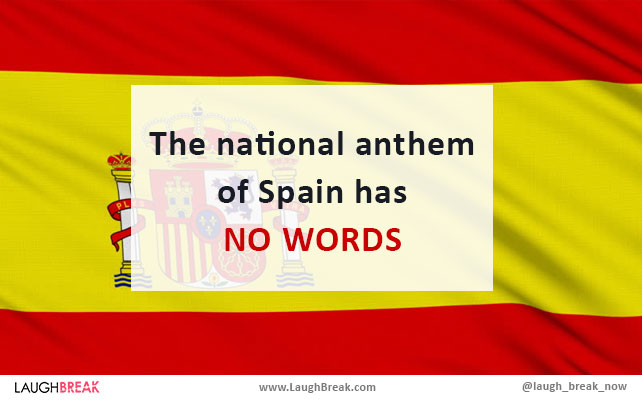 The national anthem of Spain has no words