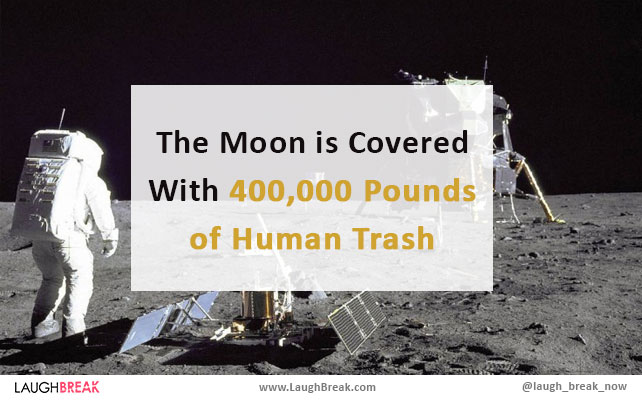 The Moon is Covered With 400,000 Pounds of Human Trash