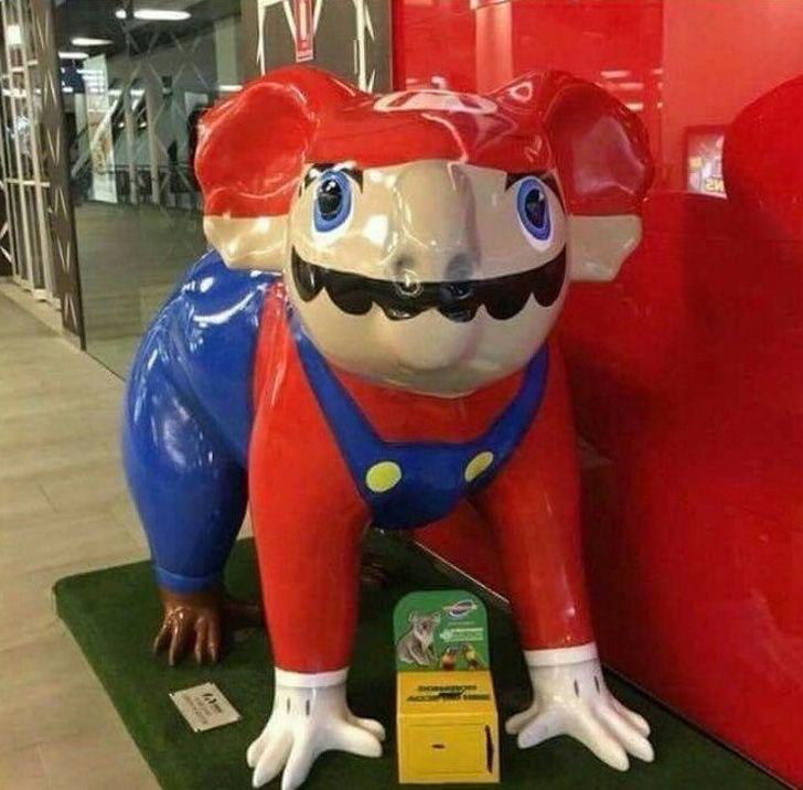 Go home, Mario! You are drunk.